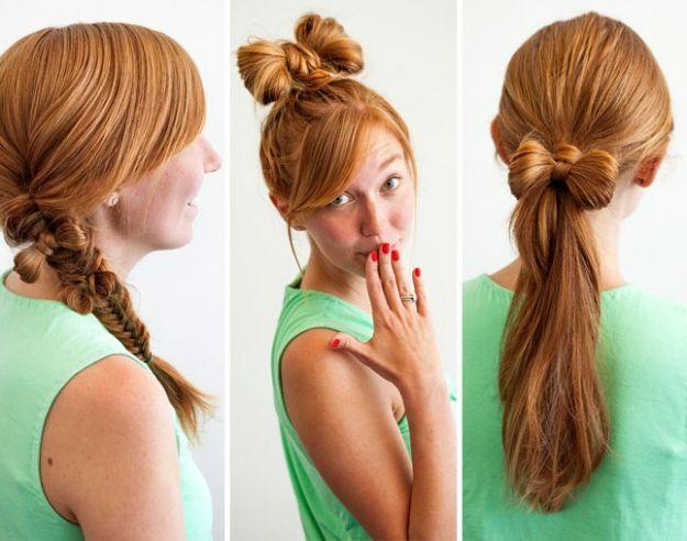 Прическа бант из волос ::: onelady.ru ::: #hair #hairs #hairstyle #hairstyles
