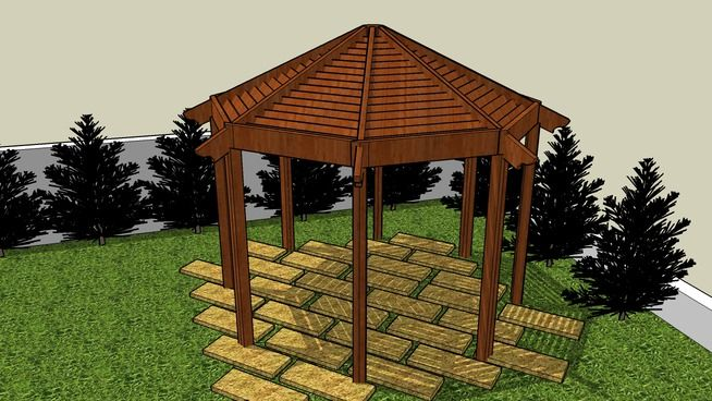 The 25 best gazebo plans ideas on pinterest diy gazebo for Simple gazebo plans