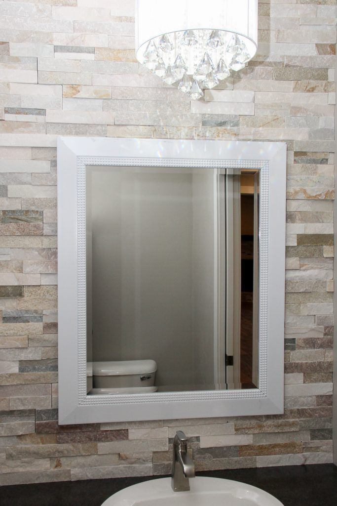 Natural Stone Tile Vanity Splash Accent Wall Accent Wall Stone Accent Walls Natural Stone Tile