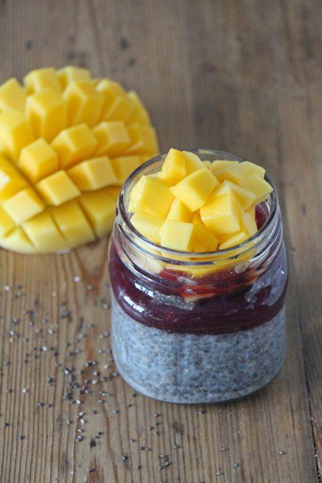 Chia-Kokos-Pudding (chia pudding - healthy vegan breakfast)