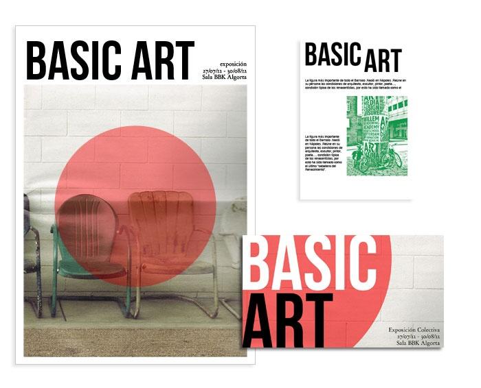 Basic Art - Poster and Brochure  #illustration #creativity #graphicdesign #freelance #design #illustrator #design #poster