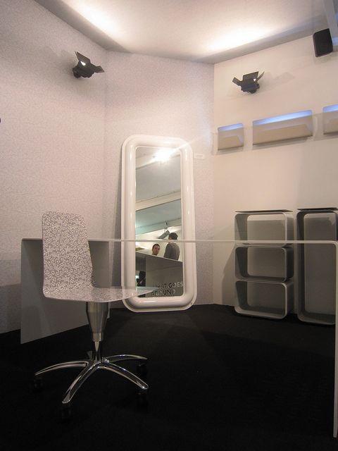 #convex vertical mirror, design by #altreforme #officina at Salone del Mobile 2011 #interior #home #decor #homedecor #furniture #aluminium