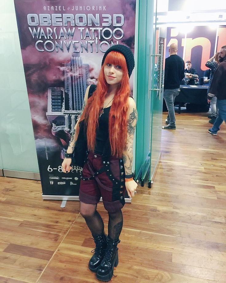Warsaw Tattoo Convention ❤️ @warsawtattooconvention #warsawtattooconvention #konwent #redhead #girlswithredhair #longhair #tattoo #girlswithtattoos #tattooedgirls #altgirl #altmodel