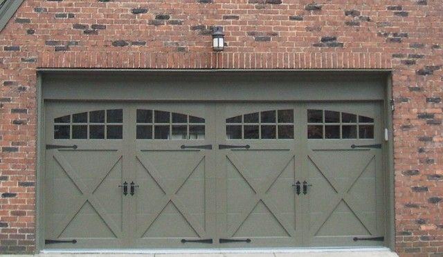 Ranch style garage door garage door pinterest for Ranch house garage doors