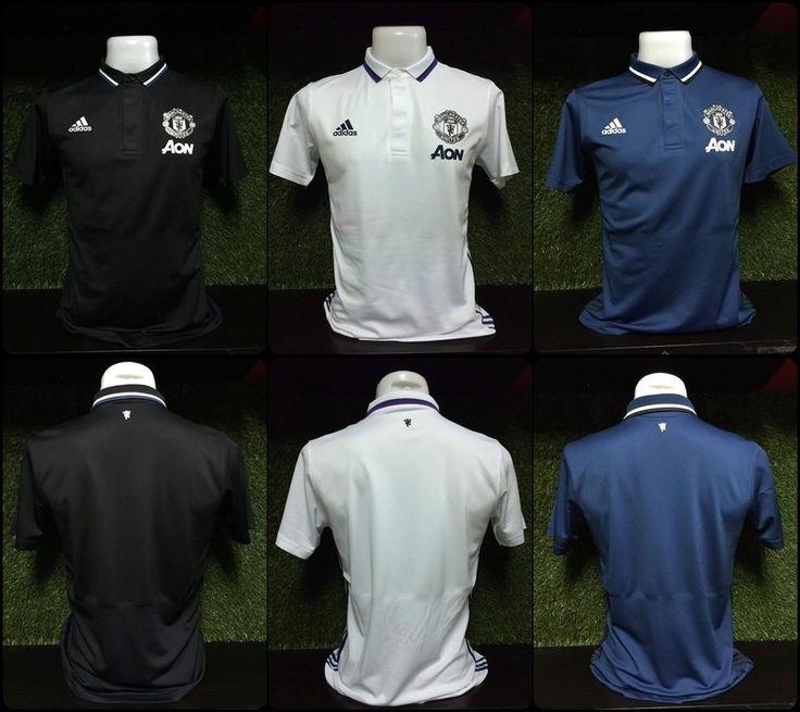 Manchester United FC Adizero Football T Shirt Polo Soccer Men Authentic Classic #Adidas