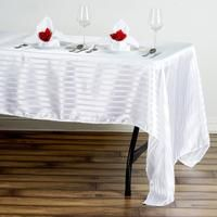 Pick the best Wedding and Banquet Tablecloths in 100% Satin fabric from efavormart's extensive assortment of party supplies and wedding decorations. Choose the perfect color and size that fit your Party theme.