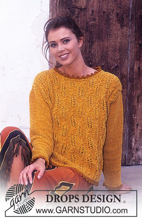 Free pattern: DROPS Sweater in Cotton Chenille and Muskat