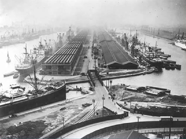 King George V and Royal Albert Docks, 1930