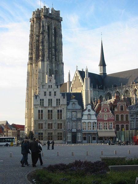 Belfry of Sint-Rombouts, Mechelen, Flanders Region, Belgium