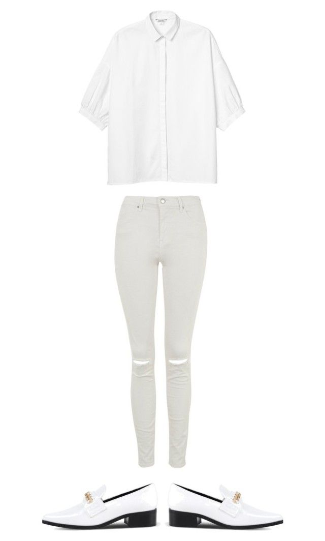 """blanc"" by shanitadinda on Polyvore featuring Topshop, Monki and STELLA McCARTNEY"