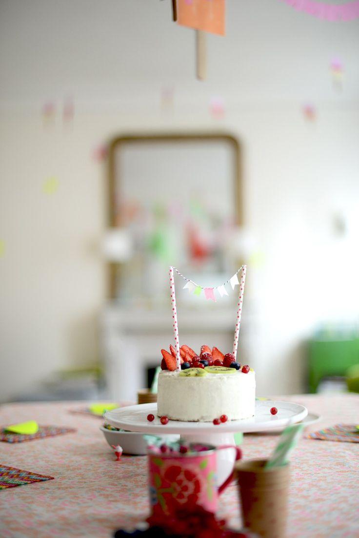 Recette gateau anniversaire au citron et glaçage mascarpone
