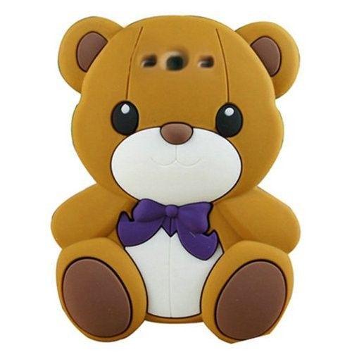 Animal 3d Cute Cartoon Brown Teddy Bear Silicon Soft Cover Case for Samsung Galaxy S3