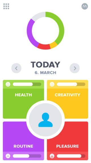 OptimizeMe 생활 통계 및 자기 개선 운동