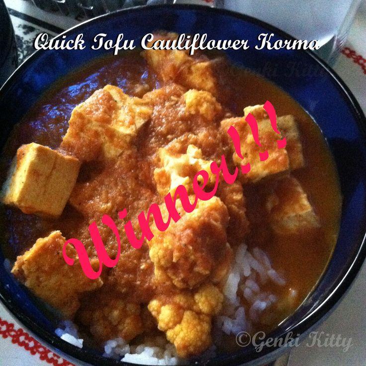 Quick Tofu Cauliflower Korma Recipe
