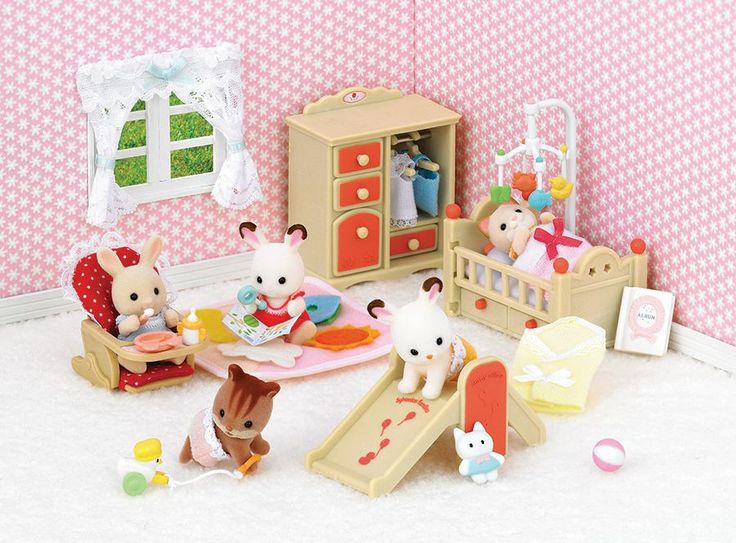 17 best images about sylvanian families on pinterest - Calico critters deluxe living room set ...