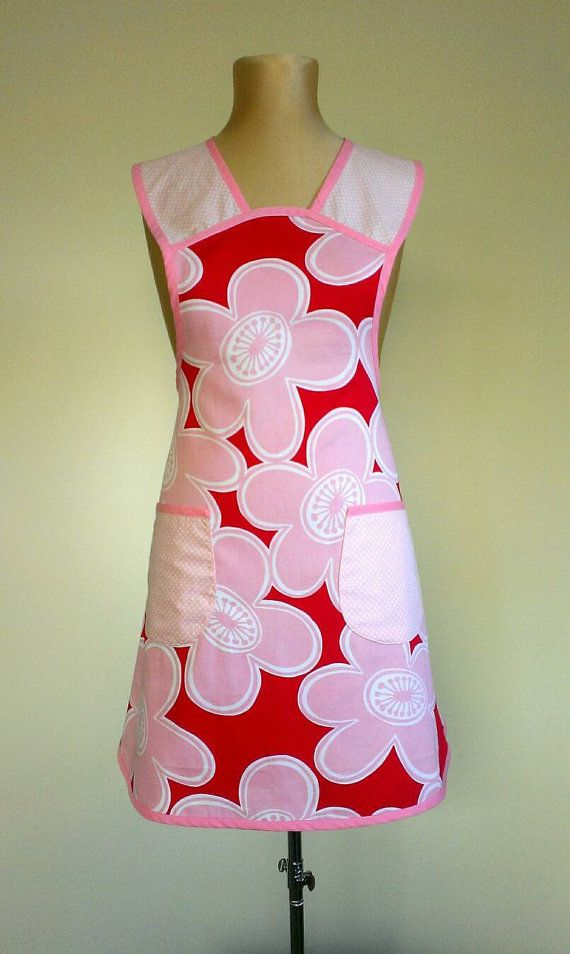 Check out this item in my Etsy shop https://www.etsy.com/au/listing/265190299/womens-apron-flowers-apron-retro-apron