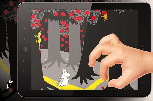 The Book About Moomin, Mymble and Little My interactive storybook