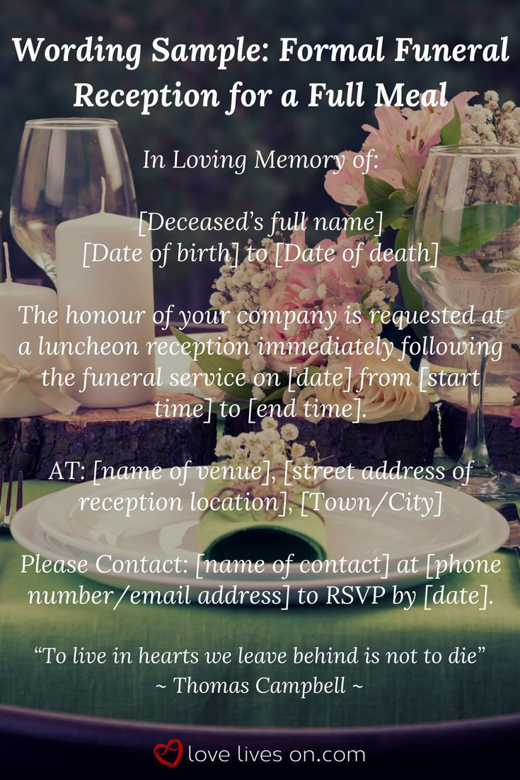 39 Best Funeral Reception Invitations 35 best
