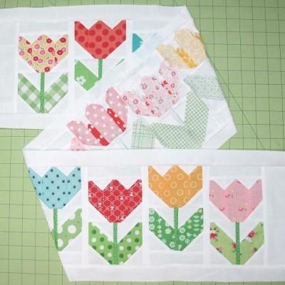 Tulip Flower Quilt {Quilting}
