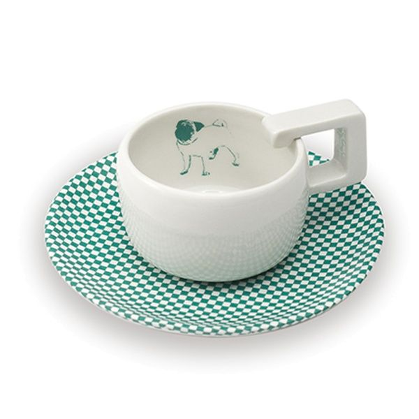 SINGLE SET - cup - Mopsdesign  Porcelain cup, element of SINGLE SET collection.