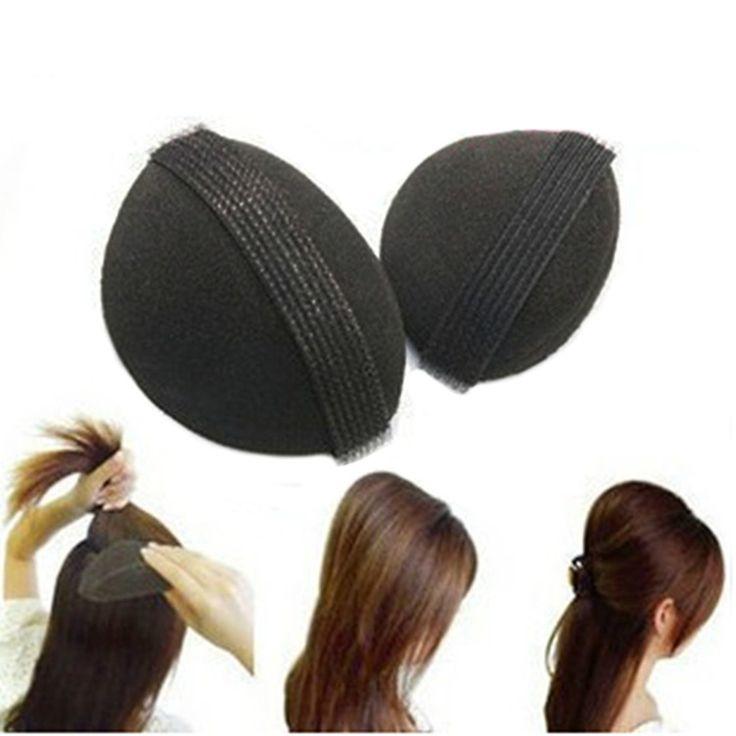 Dysk Włosów Styling Tools Nowy Kobiety 2 SZTUK DIY Włosów Lniany Włosy Puszyste Włosy Pad Wzrosła Urządzenie G6928