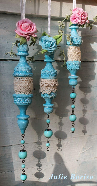 4Dekor вдохновение: Рухляжные бобинки для кружева от Юли Блохиной