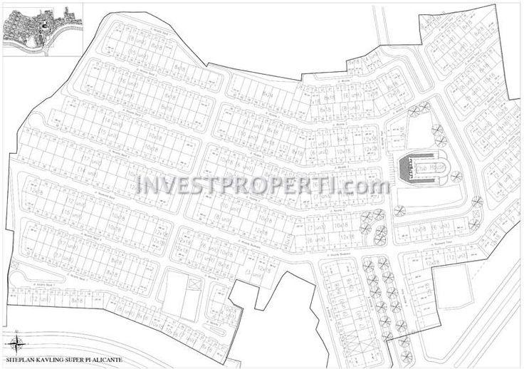 Site plan cluster Alicante