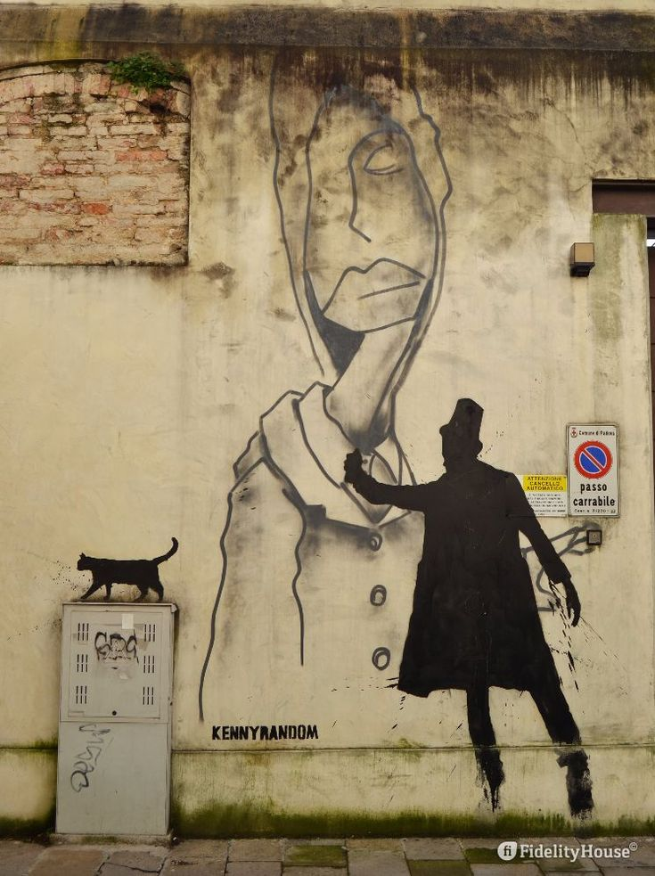 Tra le opere di strada di Kenny Random a Padova, c'è questo murales tra Via San…