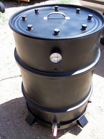 Barrel smoker... or something like this?