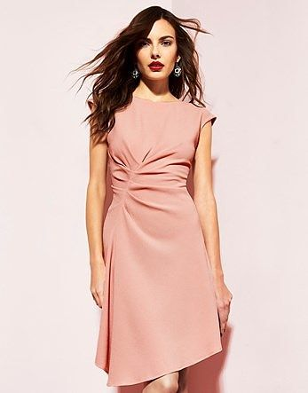 Womens pink beige closet asymmetric skirt dress from Lipsy - £55 at ClothingByColour.com