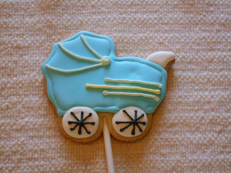 Baby Buggy Sugar Cookie Party Favor - 1 Dozen Party Favors by KimsCountryCorner on Etsy