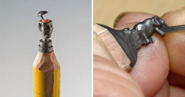Скульптуры вырезанные из обычных карандашей поражают воображение! #лайфхаки #технологии #вдохновение #приложения #рецепты #видео #спорт #стиль_жизни #лайфстайл