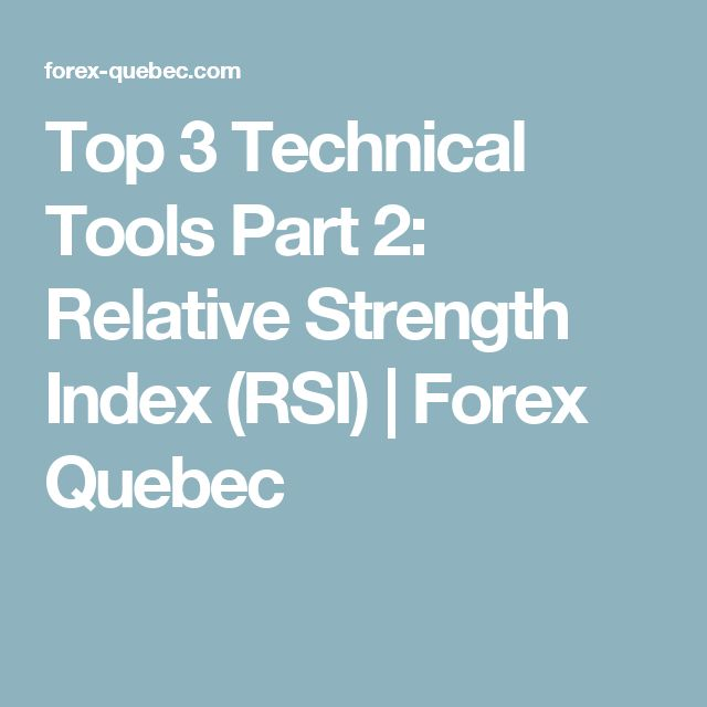 Top 3 Technical Tools Part 2: Relative Strength Index (RSI) | Forex Quebec
