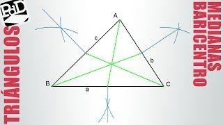 dibujar medianas de un triangulo isosceles - YouTube