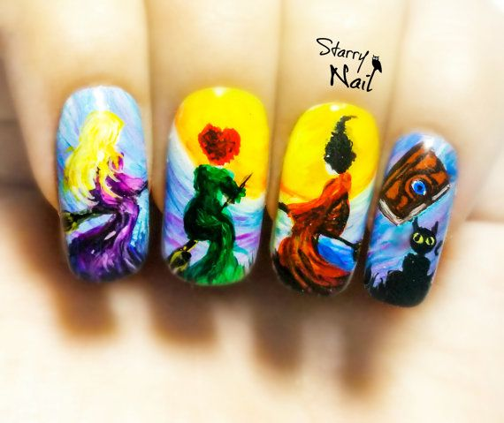 Wow these are awesome Hey, I found this really awesome Etsy listing at https://www.etsy.com/listing/250116170/hocus-pocus-halloween-witches-nail-art