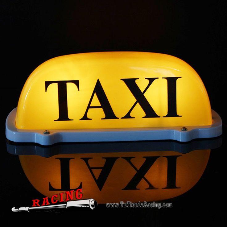 luz Magnética de TAXI 12V DC Extra-Grande para Techo de Coche Universal Color Amarillo - 14,54€ - TUTIENDARACING - ENVÍO GRATUITO EN TODAS TUS COMPRAS
