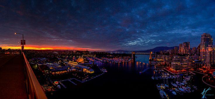 Sunset on Granville Street Bridge by Aaron Von Hagen on 500px