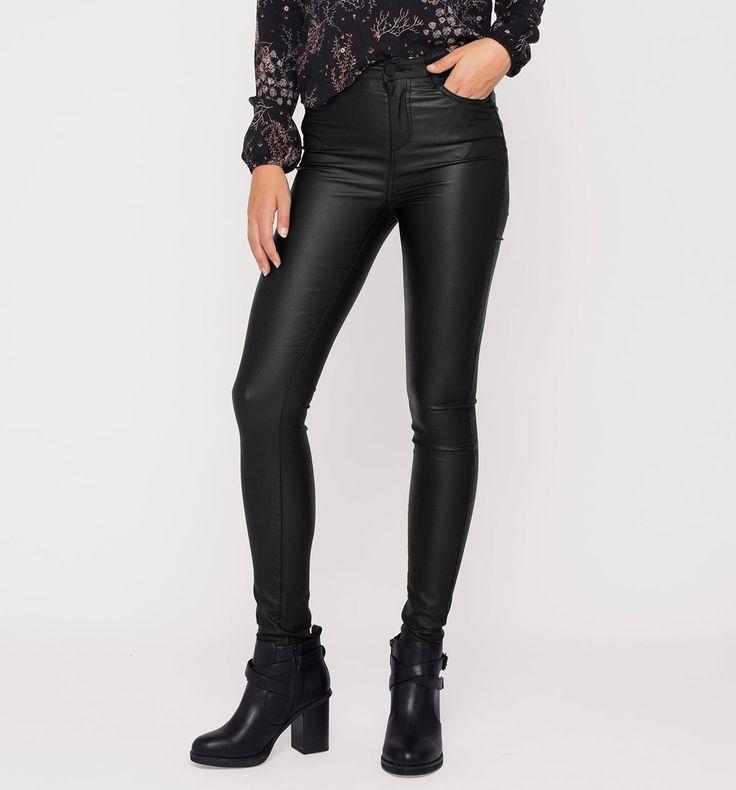 Sklep internetowy C&A | Powlekane spodnie, kolor:  czarny | Dobra jakość w niskiej cenie