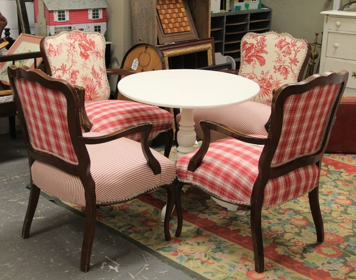 FOUND in ITHACA » French Country Upholstered Chairs and Round ...