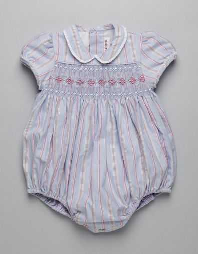STRIPES SMOCK ROMPER | Boy-and-Girl | Baby Clothes | Online Shop | Neck