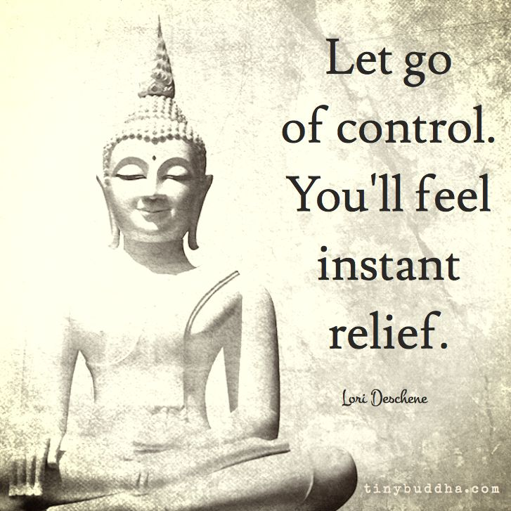 Let go of control