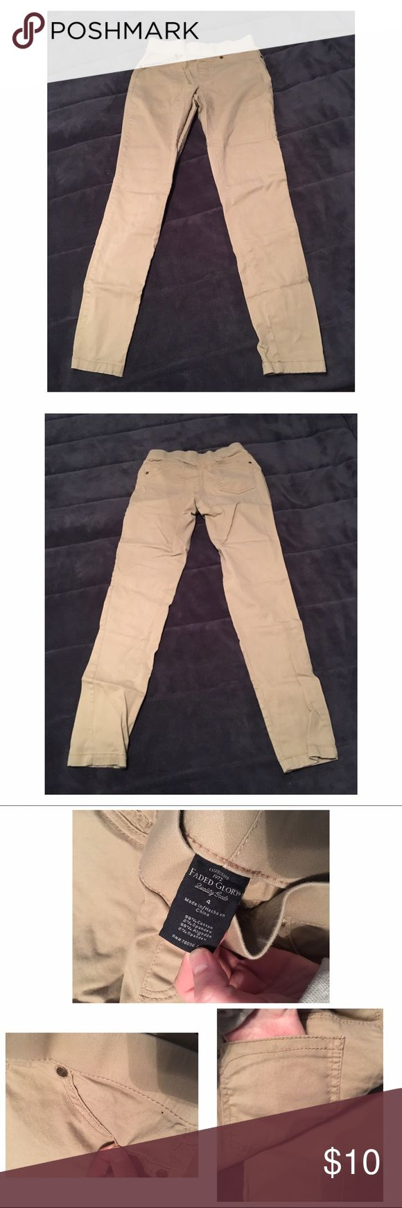 Skinny Khaki Pants Only worn a few times great condition! 😊 Faded Glory Pants Skinny