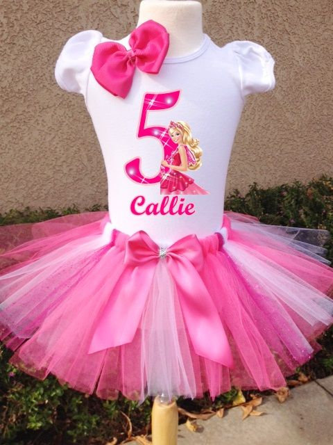 Barbie birthday tutu outfit.  http://www.hollywoodprincessparty.com/