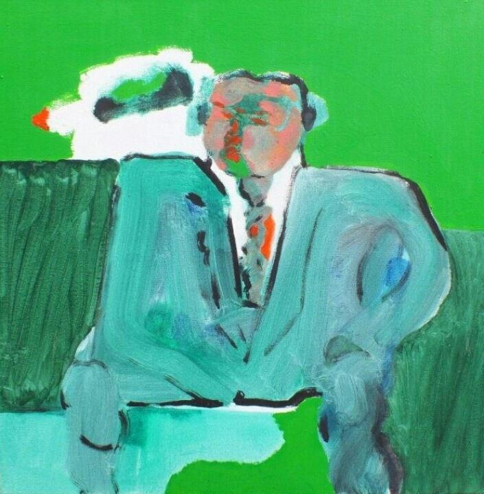 Robert Hodgins - oil on canvass