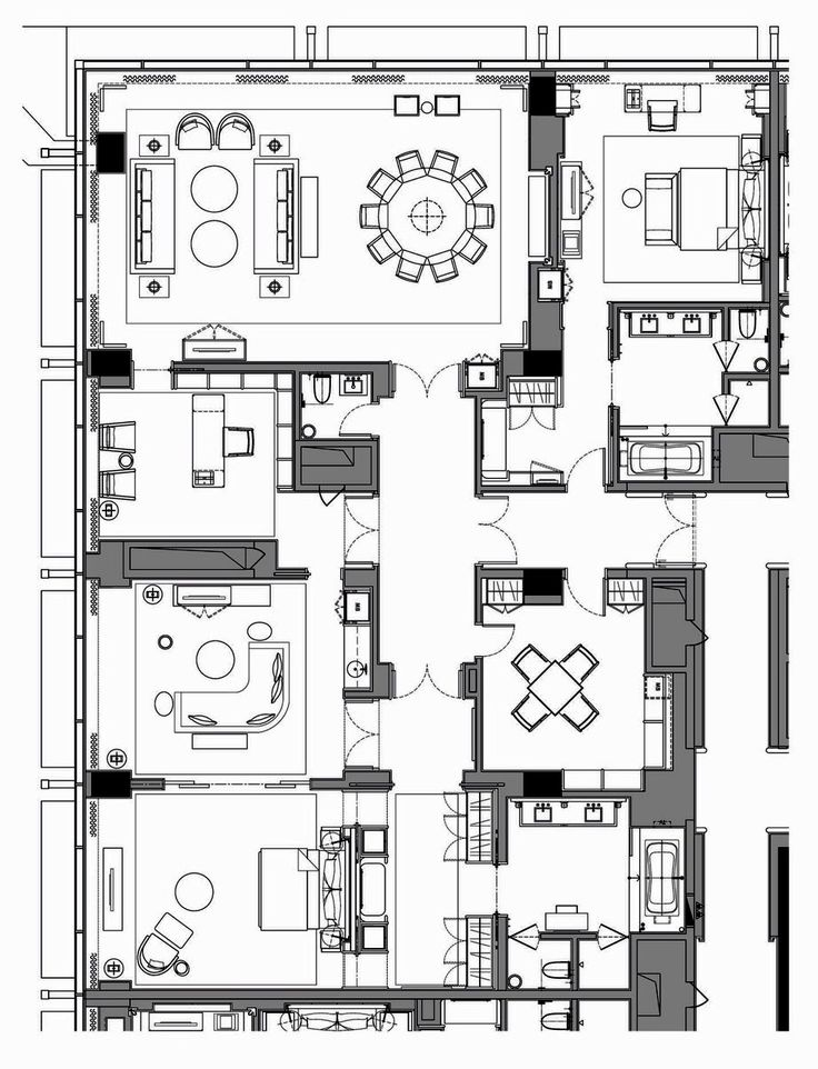 Hotel Room Plan: WALDORF ASTORIA BEIJING PRESIDENTIAL SUITE 232 Sq. M