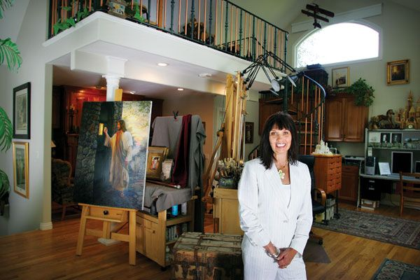 """Sydnie Olsen has been a strong support to her artist husband, Greg Olsen, during their 26 years of marriage. She never had specific career aspirations of her own. """"From the time I was little I wanted to be a wife and a mom,"""" she says"""