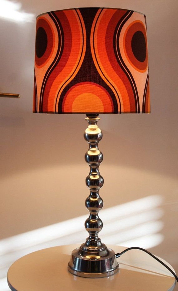 Abstract Graphic Original 60s 70s Vintage Table Lamp space age