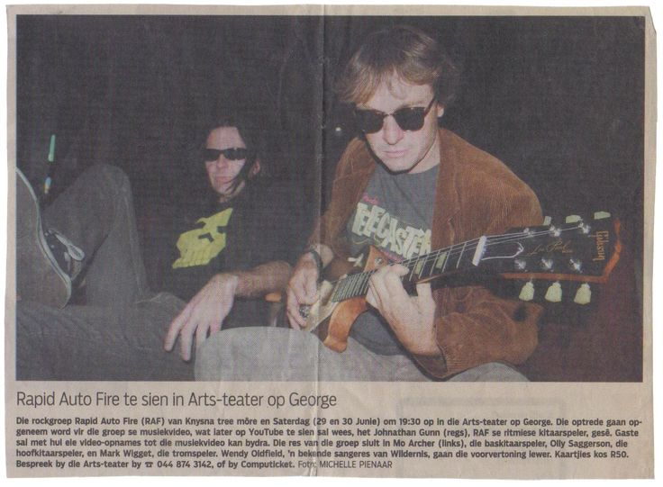 Photo for 'Die Burger' newspaper before the Rapid Auto Fire showcase at the George Arts Theater.