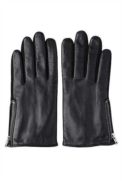 Zip Detail Glove