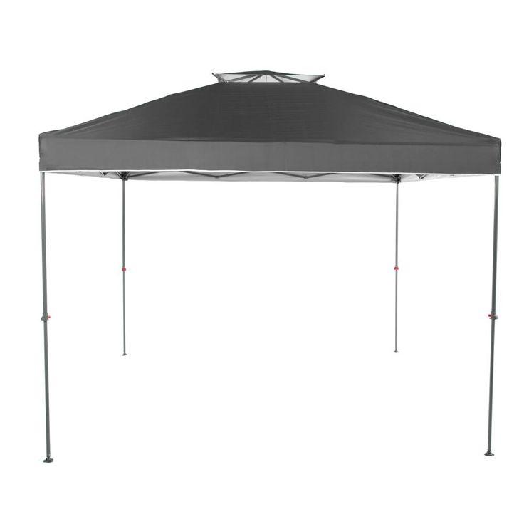 Everbilt ns100 10 ft x 10 ft grey instant canopy pop up